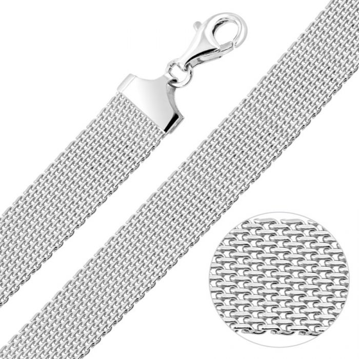 Sterling Silver 12mm Mesh Bracelet
