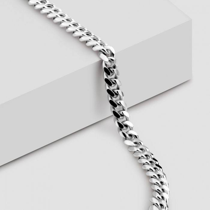 Sterling Silver 3.5mm Diamond Cut Cuban Chain Necklace