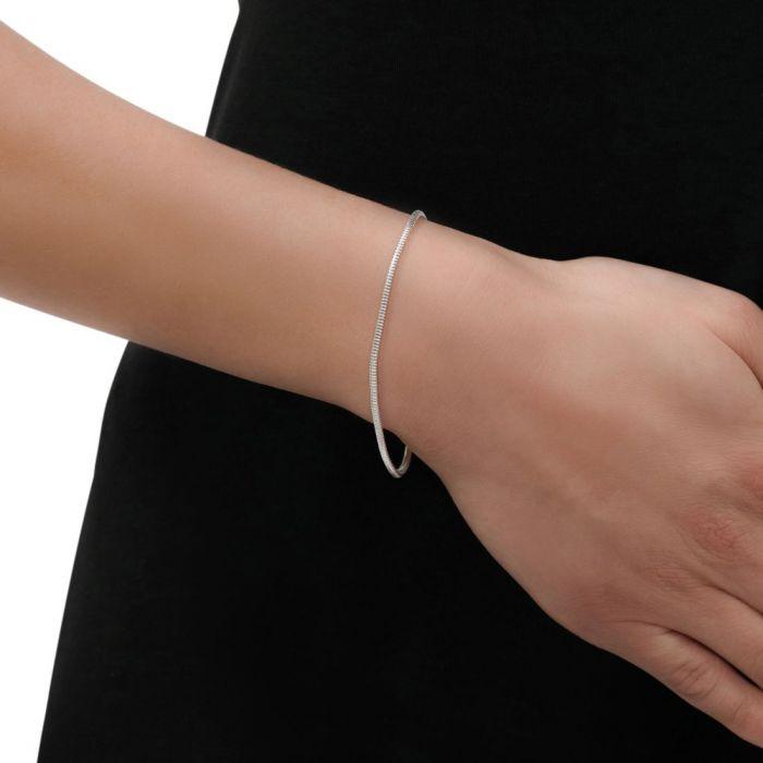 Sterling Silver 1.9mm Snake Link Bracelet