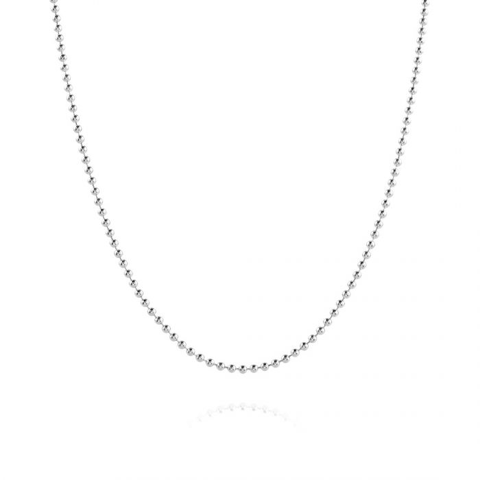 Sterling Silver 1.5mm Ball Bead Chain Necklace