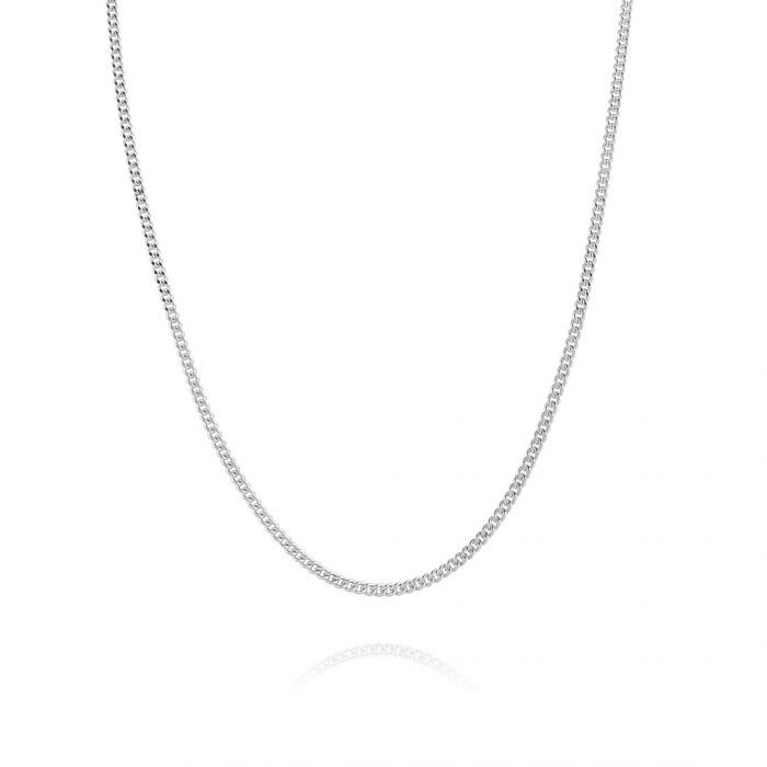 Sterling Silver 1.5mm Diamond Cut Curb Chain Necklace