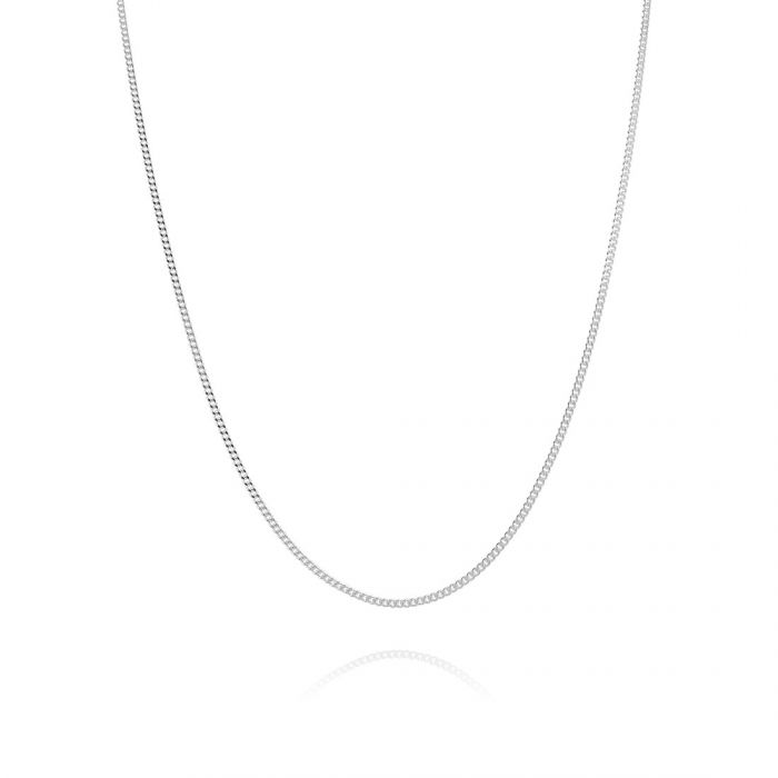Children's Sterling Silver 1mm Fine Curb Chain 14