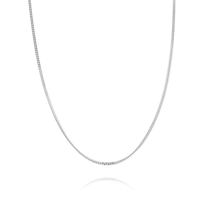 Children's Sterling Silver 1.2mm Fine Curb Chain 16