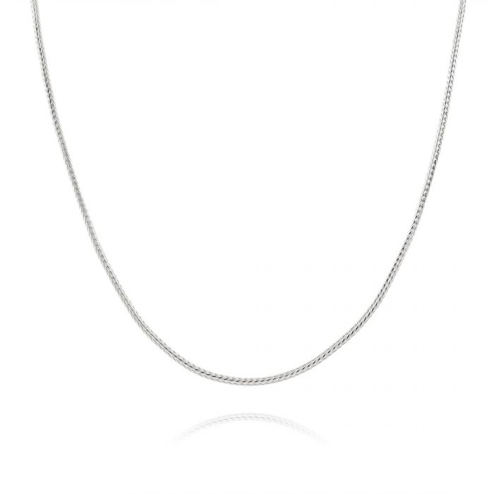 Sterling Silver 1.1mm Foxtail Chain  Necklace
