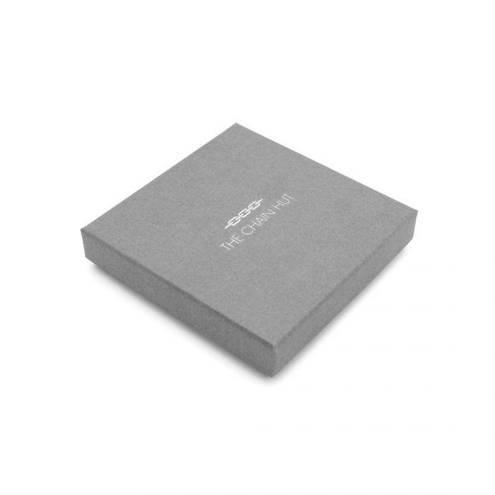Sterling Silver 5.4mm Greek Box Pave Bracelet