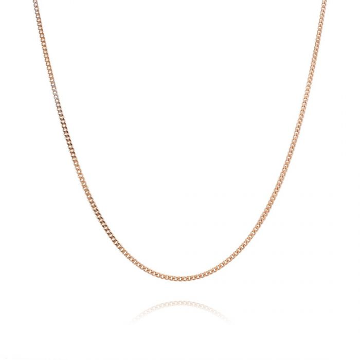 Children's 9ct Rose Gold plated 1.2mm Curb Chain 16