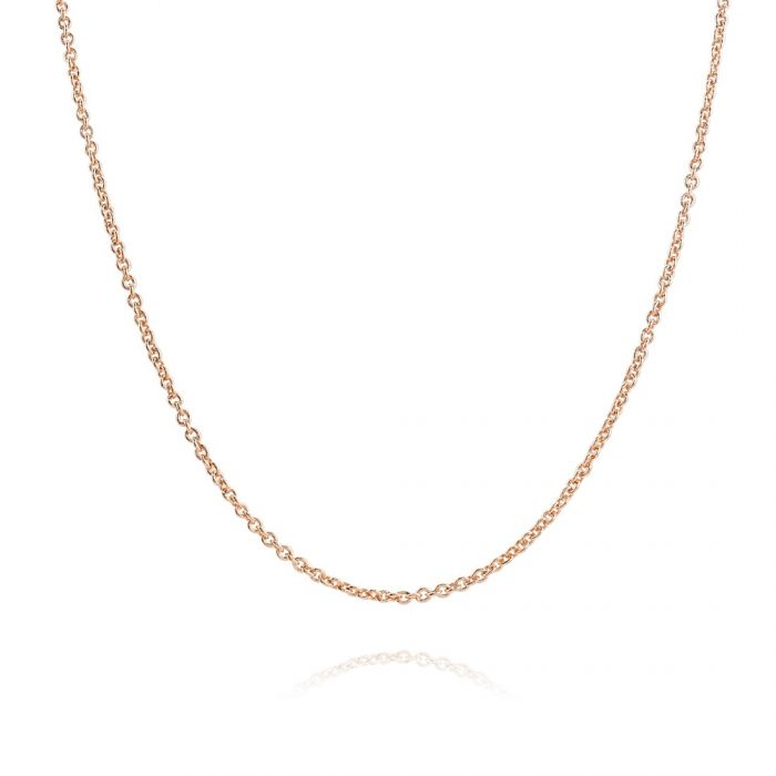 Children's 9ct Rose Gold plated 1.5mm Cable Trace Chain 16