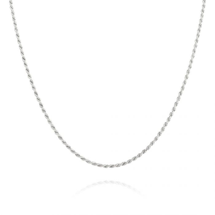 Sterling Silver 1.2mm Rope Chain Necklace