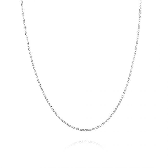 Children's Sterling Silver Diamond Cut 1.2mm Trace Chain 14