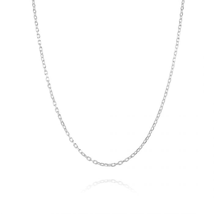 Sterling Silver 1.5mm Diamond Cut Cable Trace Chain Necklace