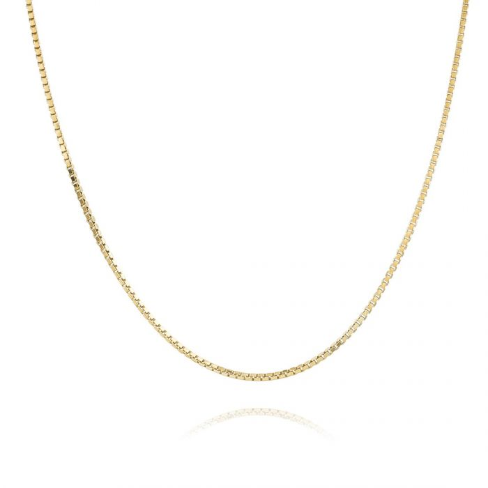 9ct Yellow Gold Plated 1mm Box Chain Necklace