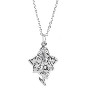 Sterling Silver AUGUST GLADIOLUS Necklace with Cable chain