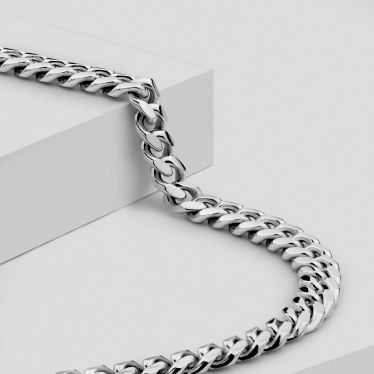 Sterling Silver 5.6mm Diamond Cut Cuban Chain Necklace