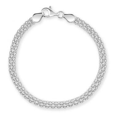 Sterling Silver 4.4mm Bismark Bracelet