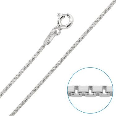 Children's Sterling Silver 1mm Box Chain 14