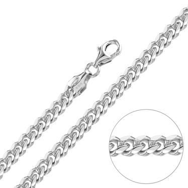 Sterling Silver 4.9mm Diamond Cut Cuban Chain Necklace