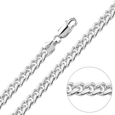 Sterling Silver 6.3mm Diamond Cut Cuban Chain Necklace