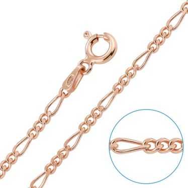 Children's 9ct Rose Gold plated 2mm Figaro Chain 14