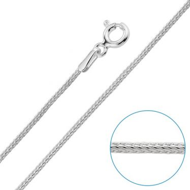 Children's Sterling Silver 1.1mm Foxtail Chain 14