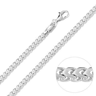 Sterling Silver 4mm Franco Chain Necklace