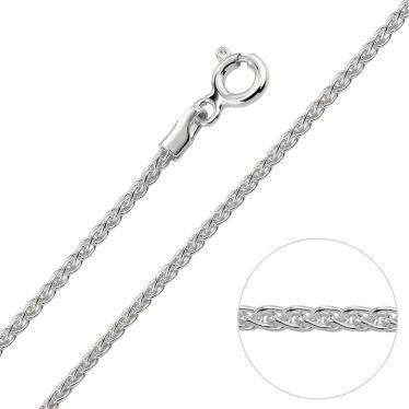 Sterling Silver 1.3mm Spiga Wheat Chain