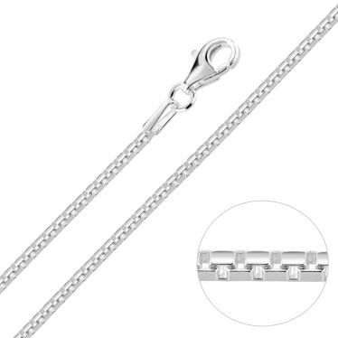 Sterling Silver 1.5mm Box Chain Necklace