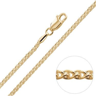 9ct Yellow Gold Plated 1.9mm Spiga Wheat Chain Necklace