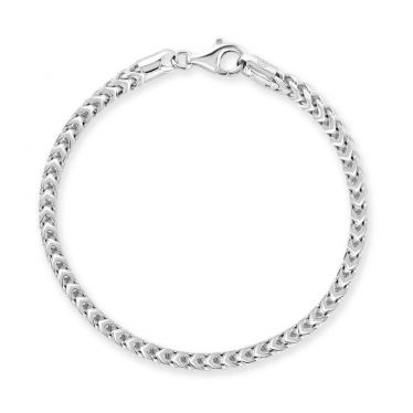Sterling Silver 4mm Franco Bracelet