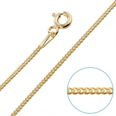 Children's 9ct Yellow Gold plated 1.2mm Curb Chain 16