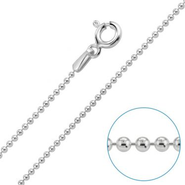 Children's Sterling Silver 1.2mm Ball Bead Chain 16