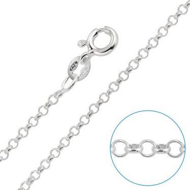 Children's Sterling Silver 2mm Belcher Rolo Chain 16