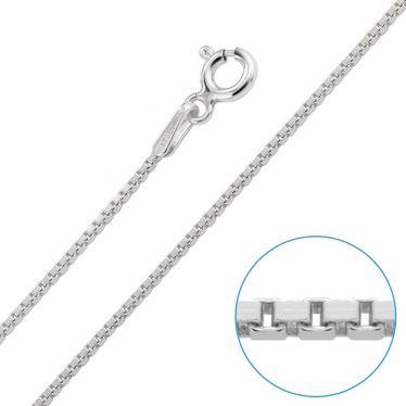 Children's Sterling Silver 1mm Box Chain 16