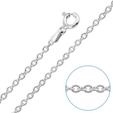 Children's Sterling Silver 2mm Cable / Trace Chain 16