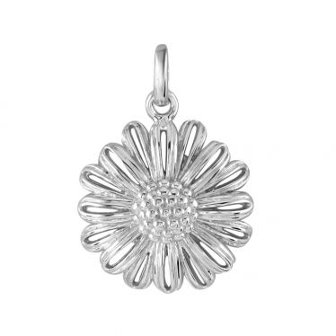 Sterling Silver Daisy April Flower Pendant