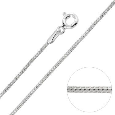 Sterling Silver 1.1mm Foxtail Chain