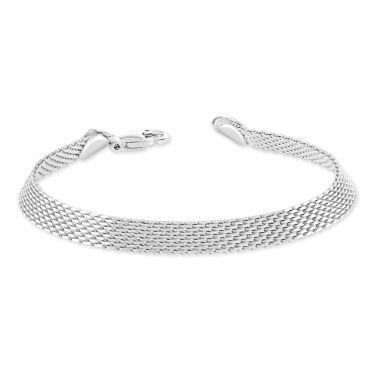 Sterling Silver 6mm Mesh Bracelet