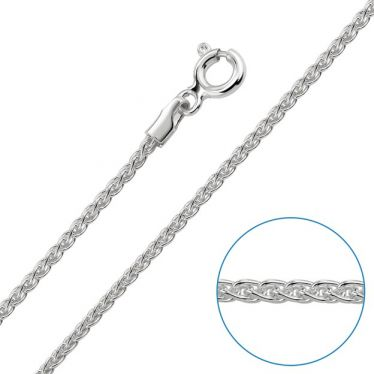 Children's Sterling Silver 1.3mm Spiga Wheat Chain 16