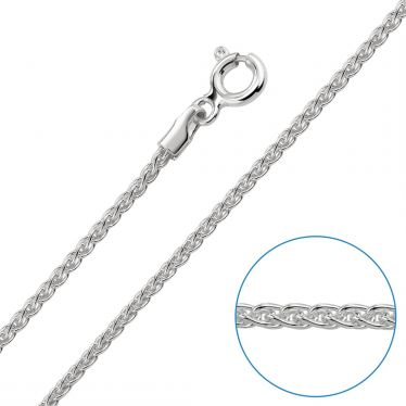 Children's Sterling Silver 1.3mm Spiga Wheat Chain 14