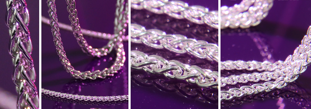 Sterling Silver Spiga Wheat Chain