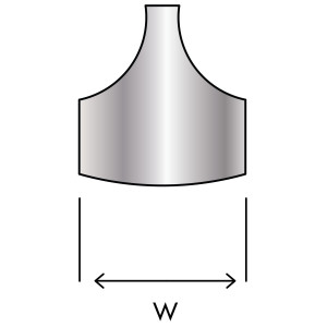 Curved End Cap Front View