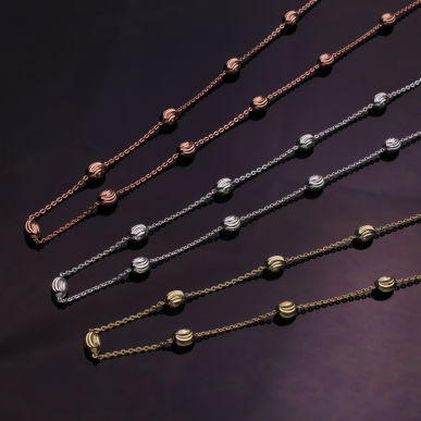 Gold Plated Chains & Necklaces on Sterling Silver