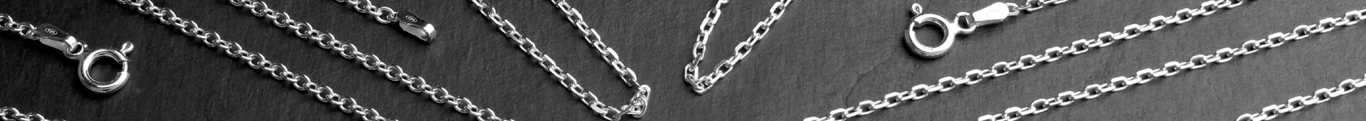 Men's Sterling Silver Trace Chain Necklaces