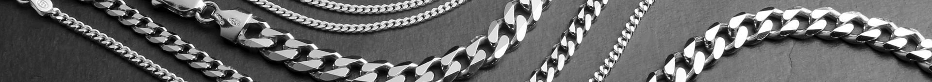 Men's Sterling Silver Curb Chains