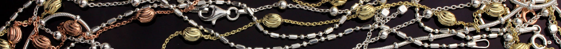 Sterling Silver Chains With Beads