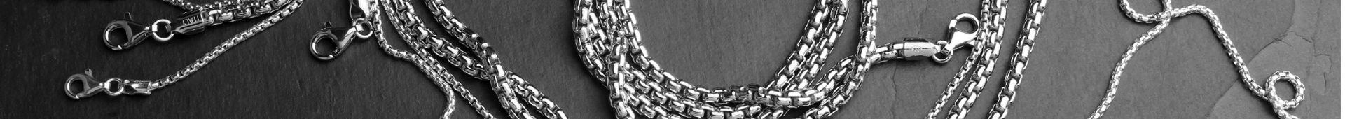 Men's Sterling Silver Box Chains