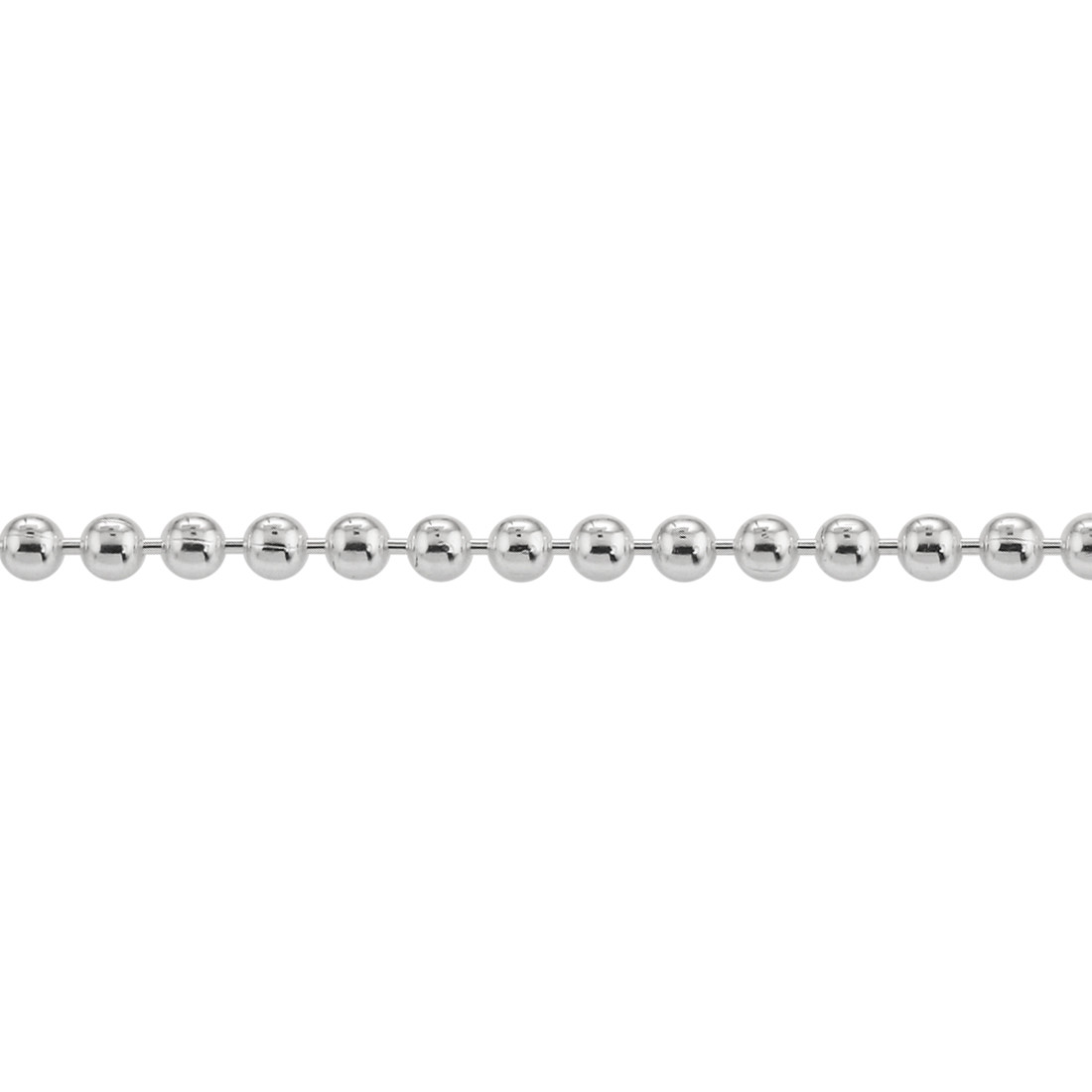 Sterling Silver Ball Bead Chain Necklace