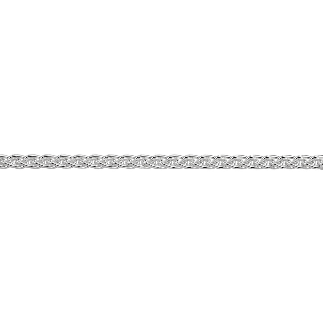 Sterling Silver Spiga Wheat Chain Necklace
