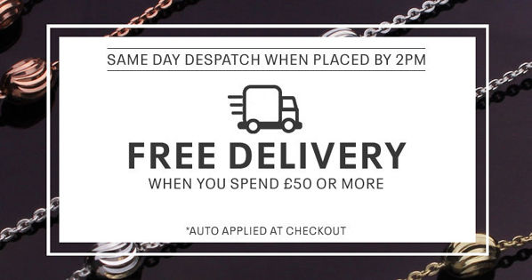 Free Delivery over £50 Banner