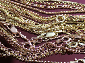 Premium 9ct Gold Plated on Sterling Silver Chains