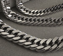 Sterling Silver Double Curb Chain Bracelets